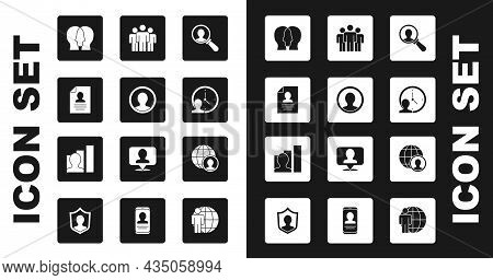 Set Magnifying Glass For Search, Create Account Screen, Resume, Project Team Base, Time Management,