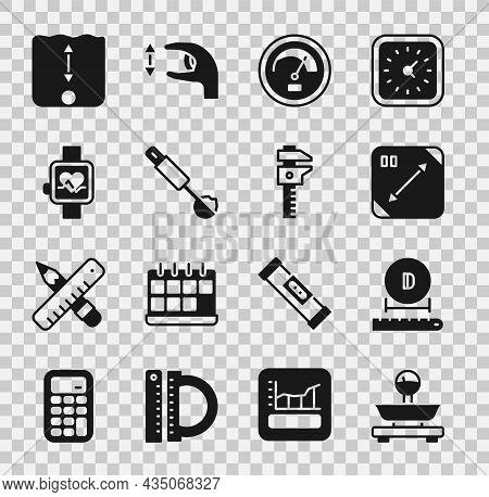 Set Scales, Diameter, Diagonal Measuring, Speedometer, Measuring Spoon, Smart Watch, Depth Measureme