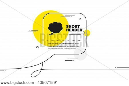 Comic Speech Bubble Icon. Continuous Line Chat Bubble Banner. Chat Sign. Communication Or Comment Sy