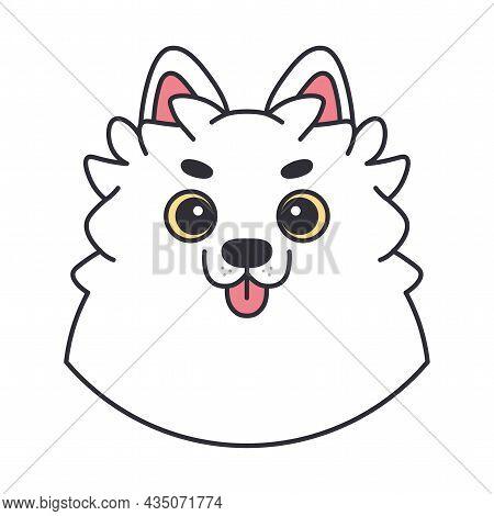 Isolated Cute Avatar Of An Alaskan Malamute Dog Breed Vector Illustration
