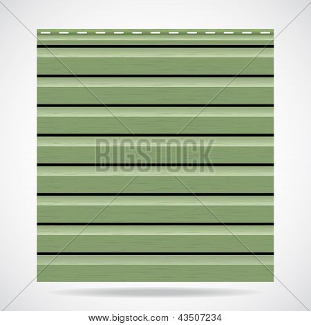 Siding Texture Panel Green Color