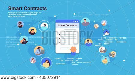 Smart Contracts Process Of Digital Secure Transaction By Using Smart Contract Blockchain Technology