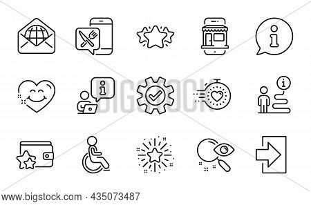 Technology Icons Set. Included Icon As Loyalty Program, Twinkle Star, Food App Signs. Timer, Search,
