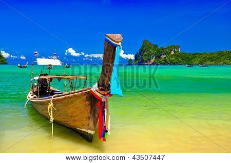Beautiful phi phi island in Thailand