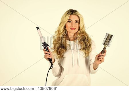Keep Calm And Get Your Hair Done. Waves And Curls Volume Hairstyle. Blond Permed Hair. Beautiful Blo