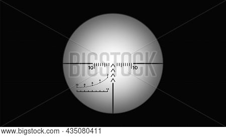 Misted Sniper Viewfinder Crosshair. Shooter Aiming Scope Overlay For Post Production