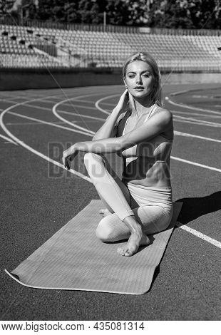 Yoga Coach. Sport Success. Concept Of Flexibility. Fitness Sport Fashion. Healthy Dieting. Sportive