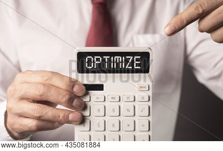 Optimize Word. Tax And Finance Optimization Concept.