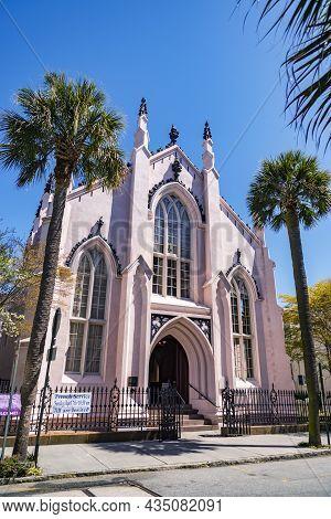 Huguenot Church In Charleston, South Carolina. This Is A National Historic Landmark, Usa