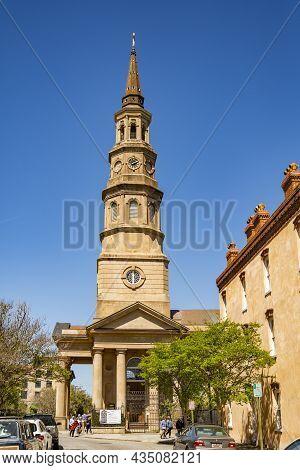 Charleston - March 28, 2019: St. Philip's Episcopal Church Charleston South Carolina Usa