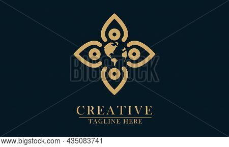 Concept Of Humans And Planets, Good For A Logo Icon Caring For Nature, Conservation, Protection, Hum