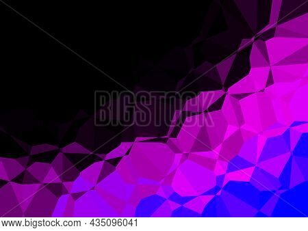 Wrinkled Colored Paper Background - Abstract Geometric Illustration, Vector