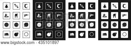 Set Moon And Stars, Astronomical Observatory, Mars Rover, Rocket Ship, Ray Gun, Satellite, Planet An