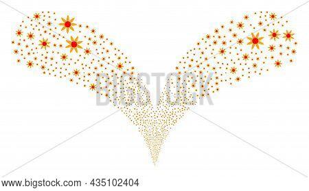 Sun Shine Double Fireworks Fountain. Sun Shine Fireworks Double Fountain. Object Fountain Is Created