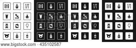 Set Matches, Ketchup Bottle, Glass Of Beer, Grilled Shish Kebab, Kitchen Apron, Salt, Meat Tongs And
