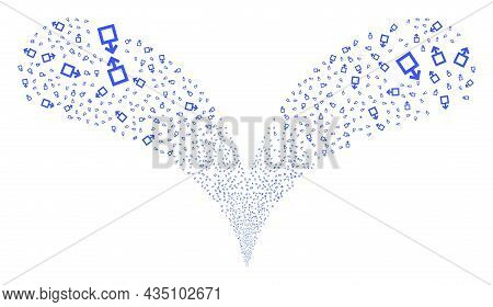 Male Symbol Double Fireworks Salute. Male Symbol Fireworks Twice Fountain. Object Fountain Is Done F