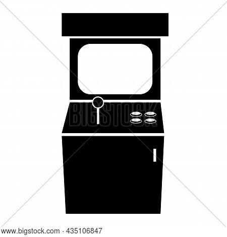 Arcade Game Machine Icon On White Background. Old Arcade Machine Sign. Gaming Machine Symbol. Flat S