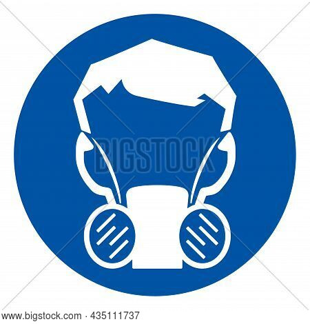 Half Face Mask Respirator Symbol Sign ,vector Illustration, Isolate On White Background Label. Eps10