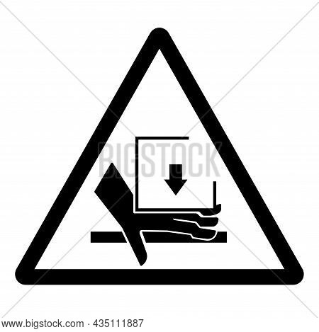 Hand Crush Force From Above Symbol Sign, Vector Illustration, Isolate On White Background Label .eps