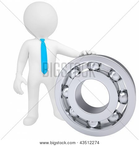3d white man with the bearing