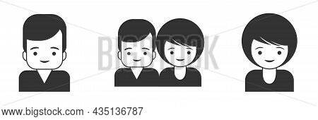 Office And Business People Icons Set. Man And Woman In Flat Design. Suitable For Websites And Applic
