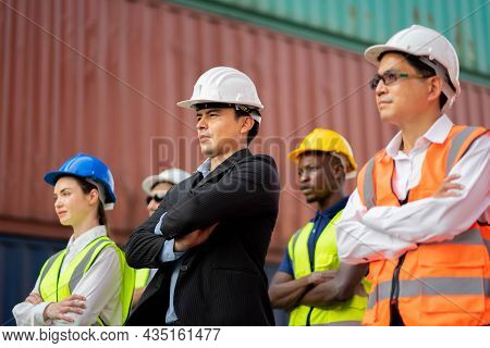 Group Of Architects And Engineers At A Construction Site Smiling, Teamwork Togetherness Unity Variat