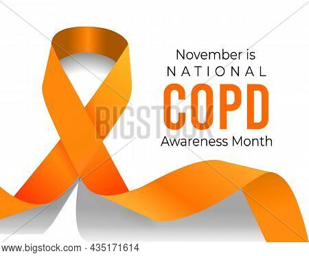 November Is Copd Awareness Month. Vector Illustration