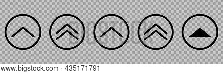 Vector Swipe Up Icons. Line Art Style. Can Use For Web And Mobile App Design