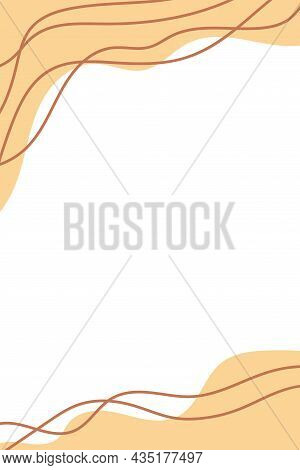 Abstract Background With Hand Drawn Organic Shapes Stains Dots Lines Waves. Doodle Covers Template D