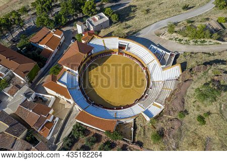 Bullring Of Alcaraz, Albacete Spain. With A Capacity Of 1,250 Seats.