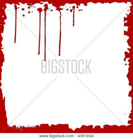 Red Grunge Splatters Frame