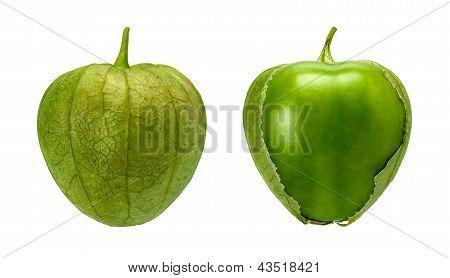 Tomatillo Pair Isolated On White