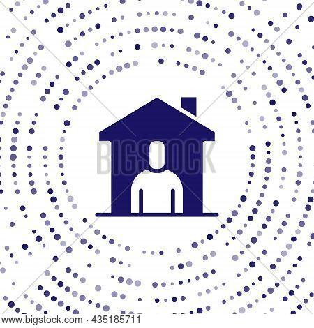 Blue Shelter For Homeless Icon Isolated On White Background. Emergency Housing, Temporary Residence