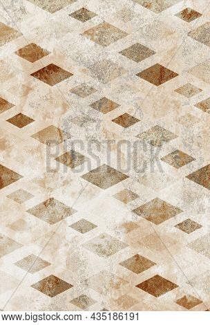 Digital Tiles Design. Colorful Ceramic Wall And Floor Tiles Decoration. Abstract Damask Patchwork Pa