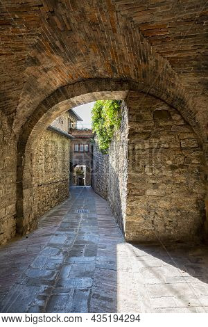 A Beautiful View Of Gubbio, Medieval Town In The Province Of Perugia