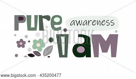 Life Takes Care Of Life Positive Affirmation Vector. Colourful Letters Blogs Banner Cards Wishes T S