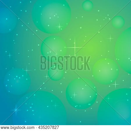 Vector Image Of Background With Starry Light