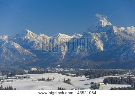 panorama landscape in bavaria