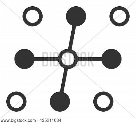 Grid Structure Icon With Flat Style. Isolated Vector Grid Structure Icon Image, Simple Style.