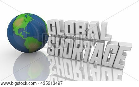Global Shortage Supply Chain Crisis Low Inventory International Trade 3d Illustration