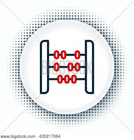 Line Abacus Icon Isolated On White Background. Traditional Counting Frame. Education Sign. Mathemati