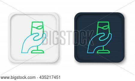 Line Wine Tasting, Degustation Icon Isolated On White Background. Sommelier. Smells Of Wine. Colorfu