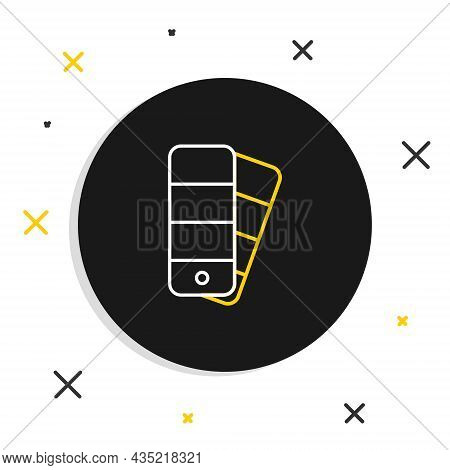 Line Color Palette Guide Icon Isolated On White Background. Colorful Outline Concept. Vector
