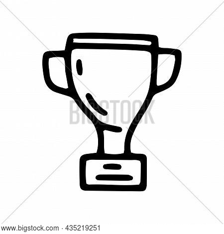 Winner Cup Line Vector Doodle Simple Icon