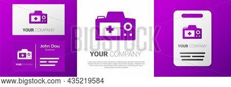 Logotype Photo Camera Icon Isolated On White Background. Foto Camera. Digital Photography. Logo Desi