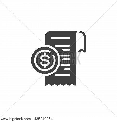 Payment Check Vector Icon. Filled Flat Sign For Mobile Concept And Web Design. Receipt, Bill Check G