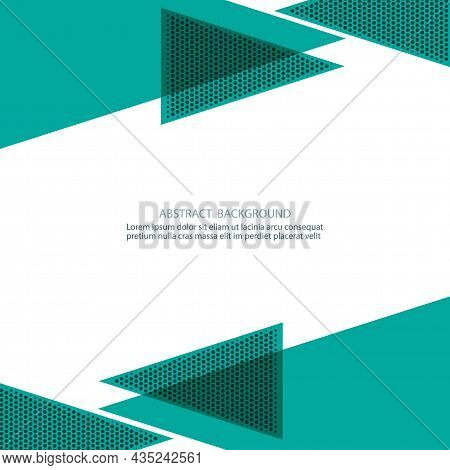 Abstract Background Modern Hipster Futuristic Graphic. Blue Background With Stripes. Vector Abstract
