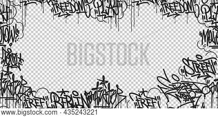 Abstract Hip Hop Street Art Graffiti Style Urban Calligraphy Vector
