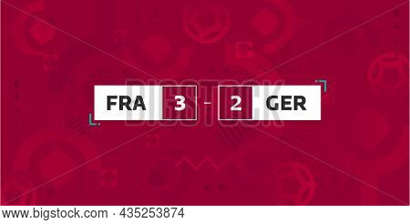 Soccer Sport Screen. Championship And Gameplay On Red Background