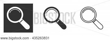 Magnifying Glass Icon. Line, Glyph And Filled Outline Colorful Version, Search, Find Magnifier Outli